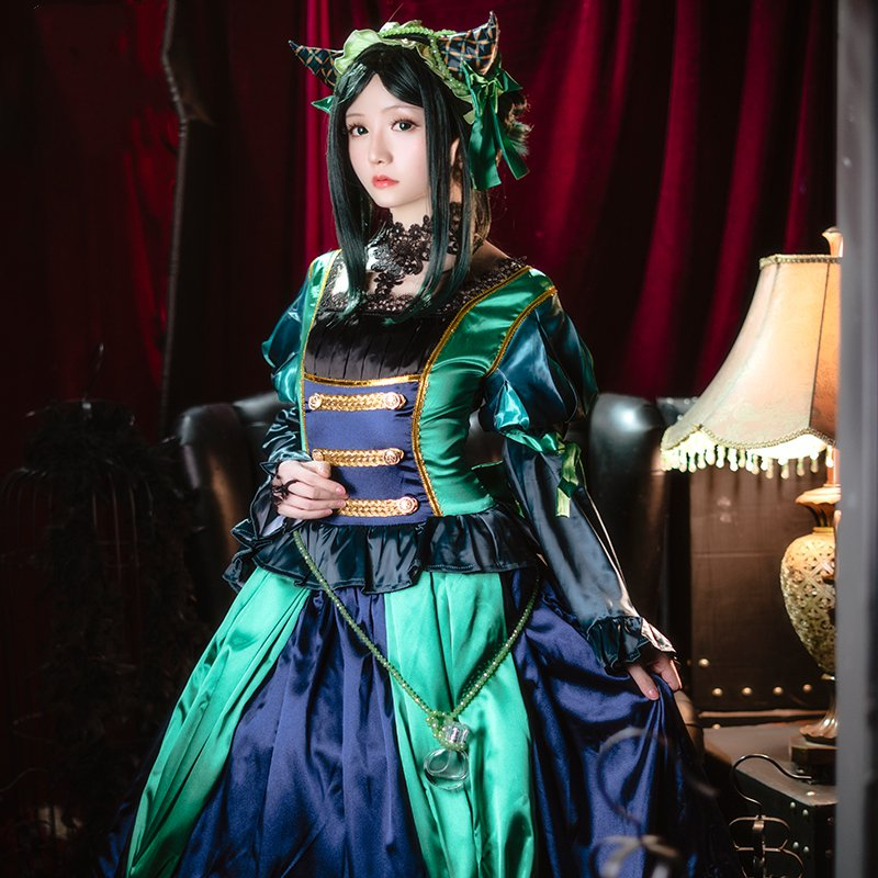 Amine Black Butler Sieglinde Sullivan Green Witcn Lolita Dress Cosplay Costume Summer Dress Pre-sell