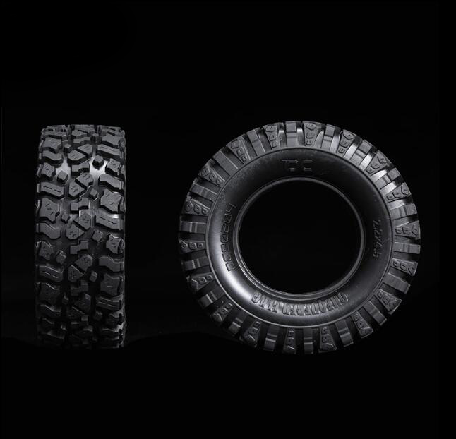 Free Shipping 2PCS 1/10 Scale RC Crawler Car Rubber Tire 1.9' 2.2' 115mm RC Crawler Truck Tire Skin Tyre Fit For Axial SCX10 air tire tyre inflating inflator tool pressure gauge for car truck motorcycle