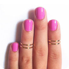 1Pcs Simple Titanium Steel Gold Silver Smooth Thin Ring Couples Rings Korean Jewelry Brincos Bijouterie(China)