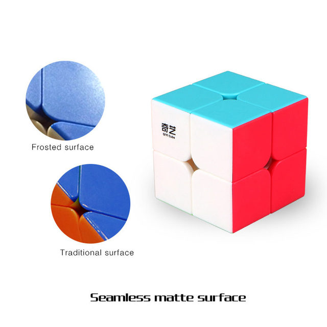 QiYi QI DI S 2x2x2 Magic Cube Stickerless QIDI Pocket Speed Cubes Professional Puzzle Cube Educational Toys For Children