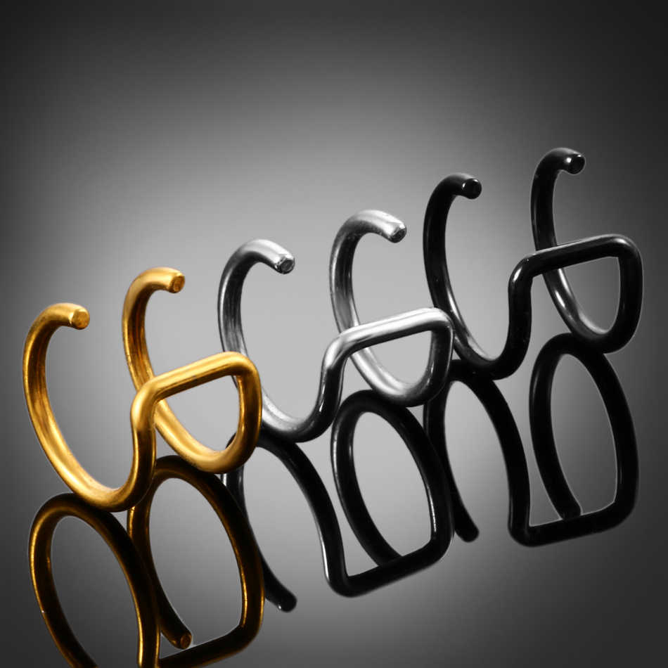 2 piunids/lote anillos de cuentas cautivos de ilusión Clip de cartílago falso anillo helicoidal pendientes Clip no perforado en el anillo de cierre piercings