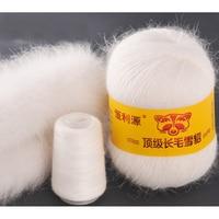100 g / 2 de fios de malha Natural Mink luxo cabeludo pele Cashmere fios para Handmad moda quente respirável laine de tricoter