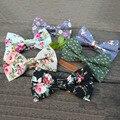 Mantieqing Floral Laços para Os Homens Flor Do Casamento Masculino Gravata borboleta Algodão Terno Slim Ties Moda Business Casual Gravata Borboleta Casamento
