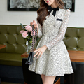 Dabuwawa beige great swinging lace dress