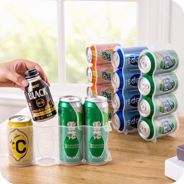 Refrigerator Ring-Pull Can Beverage Storage Bottles Jars Kitchen Freezer Zip-Top Can Soft Drinks Storaging Bins Pop-Top Can Box image