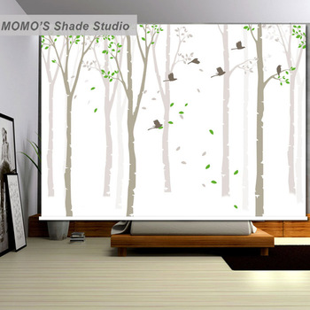 MOMO Christmas Window Blinds Roller Blinds Blackout Roller Shades Curtains Decorations for Home Custom Blinds Alice 293