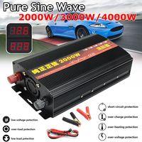Inverter 12V/24V 220V 2000/3000/4000W Voltage transformer Pure Sine Wave Power Inverter DC12V to AC 220V Converter+2 LED Display