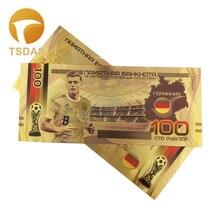 Русский 100 рубль золото банкнота Красочные для футбола сувениры для поклонников, золотые банкноты 10 шт./партия