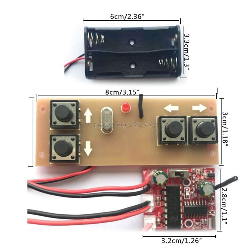 4-channel 2.4G Remote Control Receiver Module Kit Circuit Board For RC Model Car