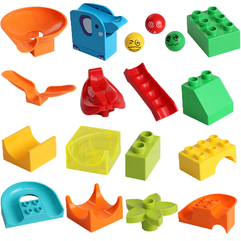 Classic Big Size Building Block Plastic Construction DIY Bricks Slide Bulk Parts Accessories Assembly Toy For Children Kids Gift