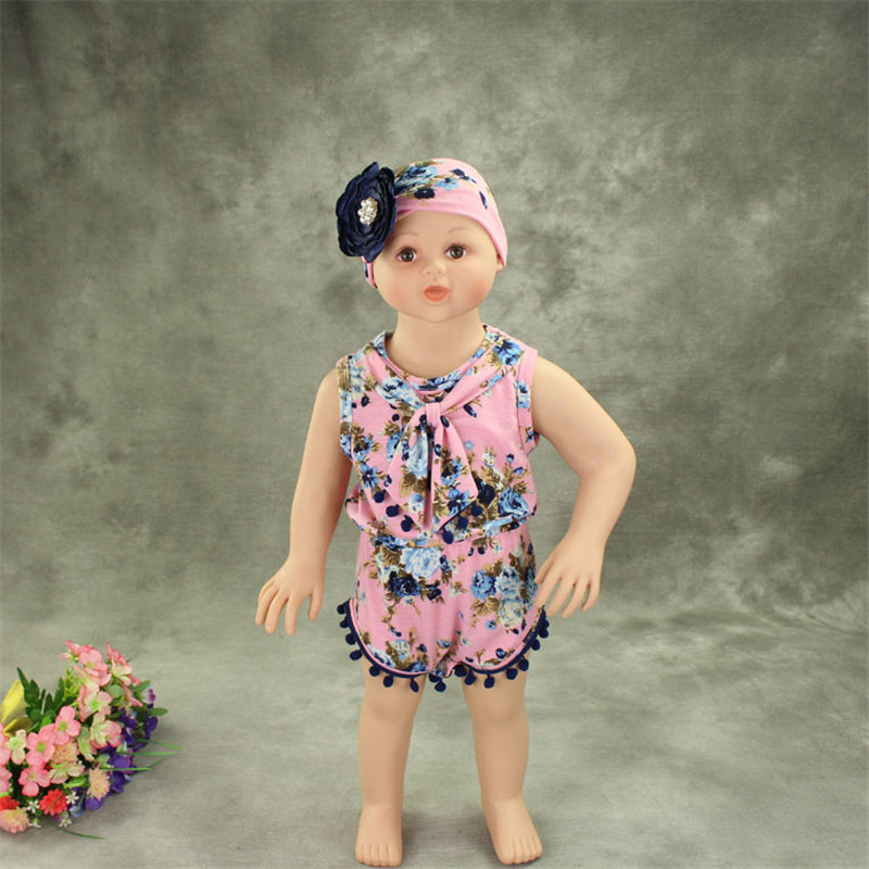 f51ca7b0db7 Cute Newborn Baby Clothes bulb edge Baby Girl Rompers Sleeveless Infant  Toddler Girl Clothes Jumpsuit Summer Kids Clothing-in Bodysuits from Mother    Kids ...