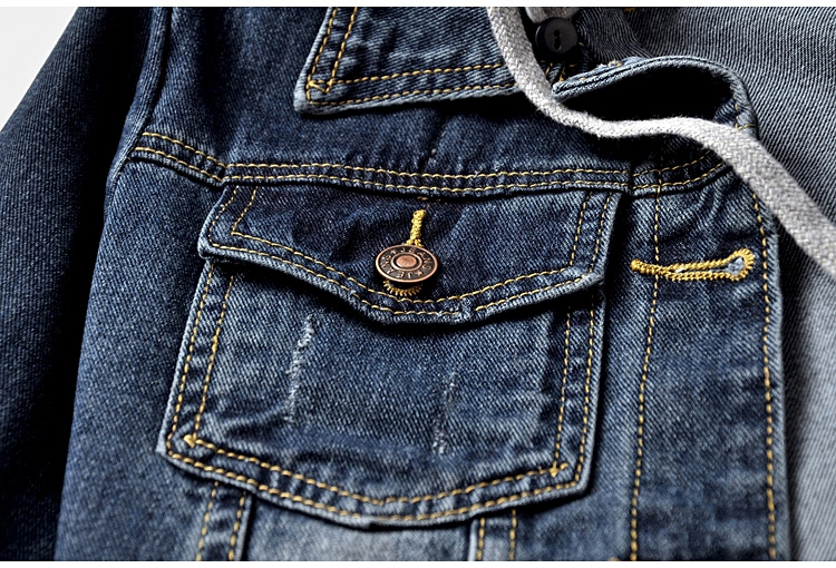 com capuz casual feminino jeans jaqueta 5xl