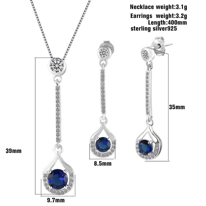 JOVO Վզնոց և Ականջօղեր Զարդեր հավաքածու - Նուրբ զարդեր - Լուսանկար 4