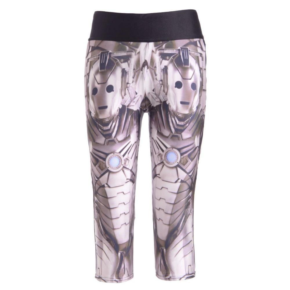 NEW 1254 Sexy Girl Women Doctor Who cyberman Iron Man 3D Prints Workout Fitness Cropped Trousers Women Leggings Pocket Pants