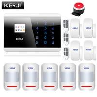 KERUI 8218G GSM PSTN Home Burglar Security Alarm System Android IOS APP Remote Control With 4 Door Sensors 5 Motion Detectors