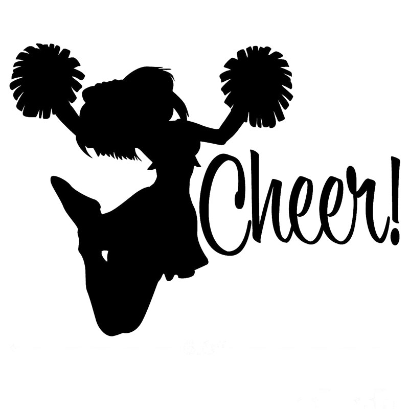 15 2cm 11 5cm Cheer Vinyl Car Decals Sticker Car Styling