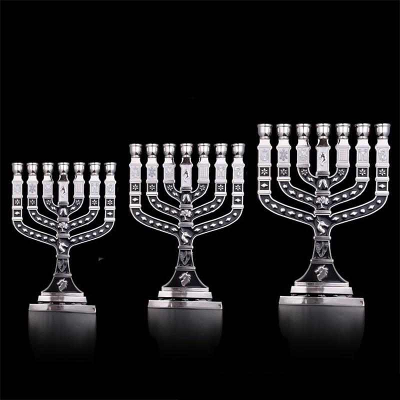 Image 2 - Hanukkah Menorah Jewish Judaica Israel Vintage Brass Chanukah Displays-in Jewelry Packaging & Display from Jewelry & Accessories