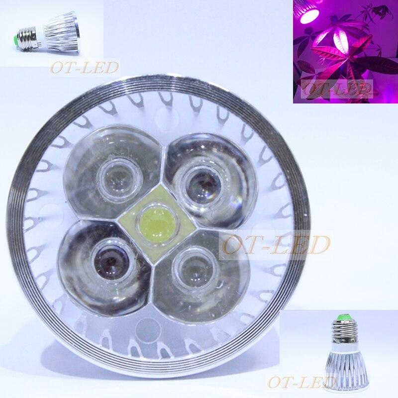 5Pcs New 10W Full Spectrum <font><b>LED</b></font> Plant <font><b>Grow</b></font> lights E27 AC 110V / 220V Growing lamp Bulb for Flower Hydroponics System <font><b>Grow</b></font> Box