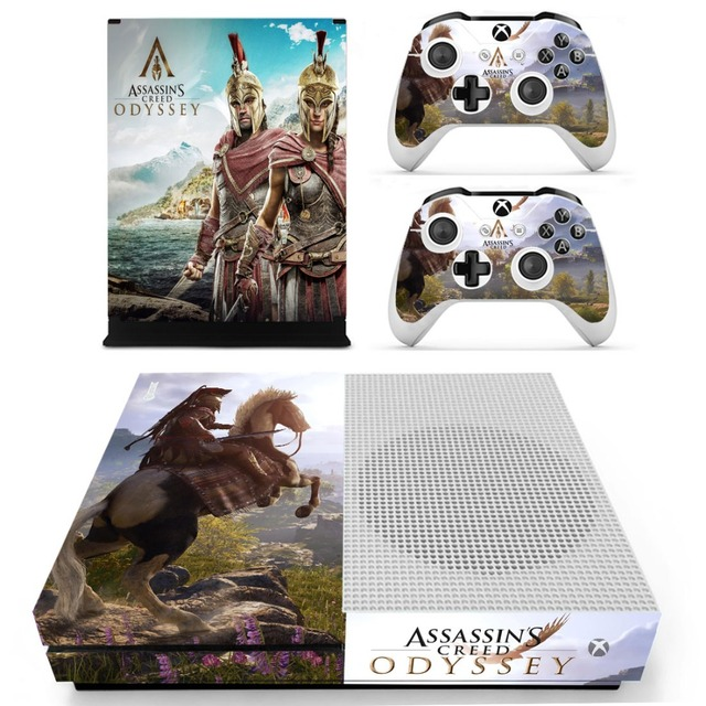 Assassins Creed Odyssey Skin Sticker Decal For Xbox One S Console and Controllers for Xbox One Slim Skin Stickers Vinyl 4