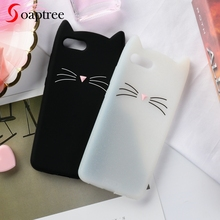 Silicone Case For Huawei P Smart Cases 3D Cute Cartoon Beard Cat Ear Soft Protective Cover for Nova lite 2 Bumper