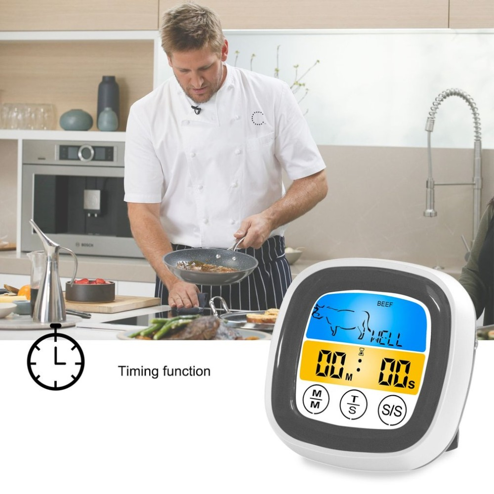 Digital Wireless Food Thermometer with Preset Temperature and Touch Screen Suitable for Perfect Cooking of Chicken Turkey and Fish 9