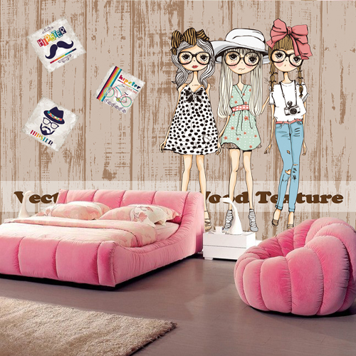 Custom mural  3D fashion boy and girl wallpaper mural TV backdrop children room clothing store wallpaper cartoon lovely mural