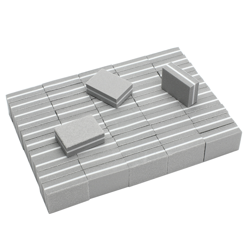 100pcs Mini Nail Files Artificial Nail Sandpaper Nail Art Tools Square Disposable Buffers 100/180 Grit Cuticle Remover Callus