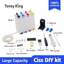 Sistema de suministro Continuo de Tinta Color CISS kit de accesorios tanque para HP 21 22 121, 122, 123, 300, 301, 302, 304, 650, 652 cartucho de tinta
