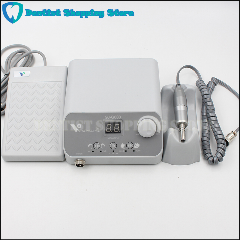 High Quality 50,000 RPM Non Carbon Brushless Dental Micromotor nail Pedicure Polishing Unit with E type lab handpiece