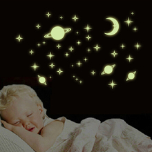 Glow in The Dark Stars for Ceiling or WallGlowing Wall Decals Stickers Room Decor KitLuminous Decal for Kids Bedroom