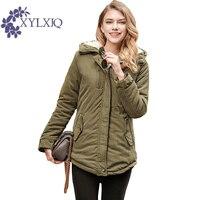 XYLXJQ 2017 New Autumn Winter Jacket Women Hooded Lambs Cotton Padded Jackets Women Coats Parkas Jaqueta