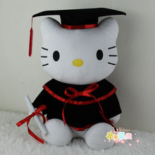Free shipping 16cm&22cm Hello kitty Graduation doctor plush toy doctor student graduation party gift stuffed doll