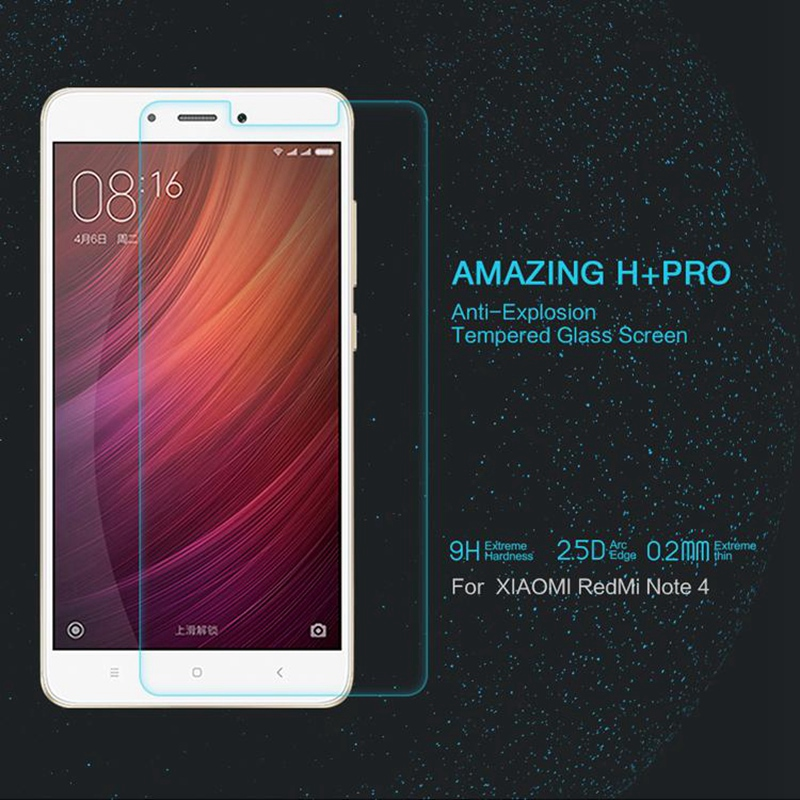 Red Mi Note 4 Glass NILLKIN Amazing H PRO 0 2mm Anti Explosion Tempered Glass For