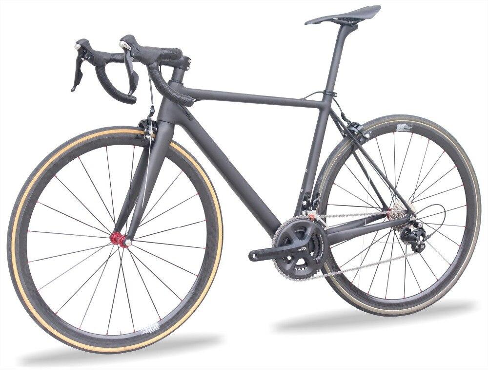 Super léger 7.2 KG Chinois Carbone Vélo 5800 groupset Complète vélo de Route Tubulaire roues t1000 Carbone route Cadre