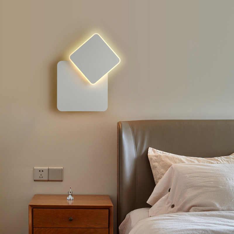 Светодиодный настенный светильник с поворотом на 360 градусов, настенный светильник с круглой вилкой для лестницы, гостиной, спальни, настенный светильник, вращающийся светильник ing