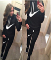 2016 Tracksuit Women Sport Suit Hoodie Sweatshirt+Pant Jogging Femme Marque Survetement  2pc Set