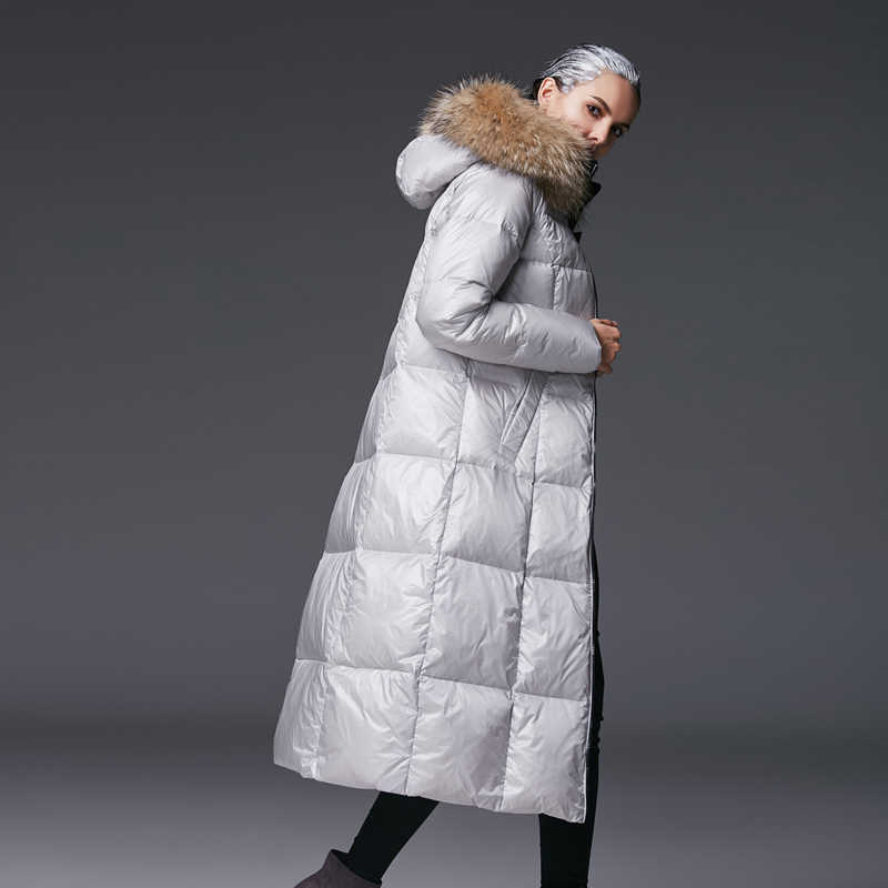 c3ef00b00177 ... Duck Down Parkas Fashion Genuine Raccoon Fur. RELATED PRODUCTS. High  Quality Raccoon Fur Down Jacket 2018 Winter Women's Thick Hooded Long Down  Coat 90%