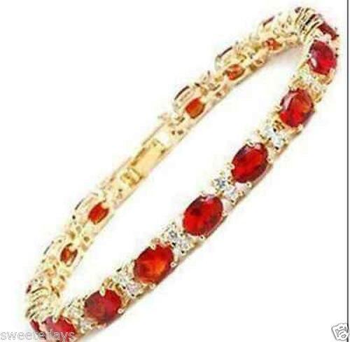 Charming natural Green Jade Beads 18KGP Link Clasp Bracelet