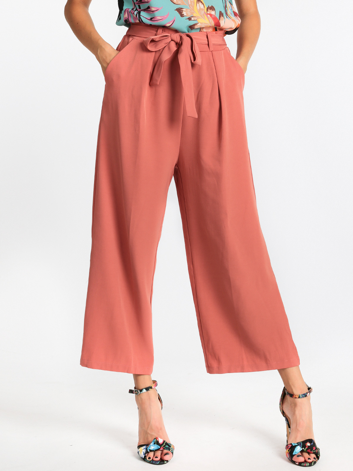 JESTOMS Palazzo Pants With Bow