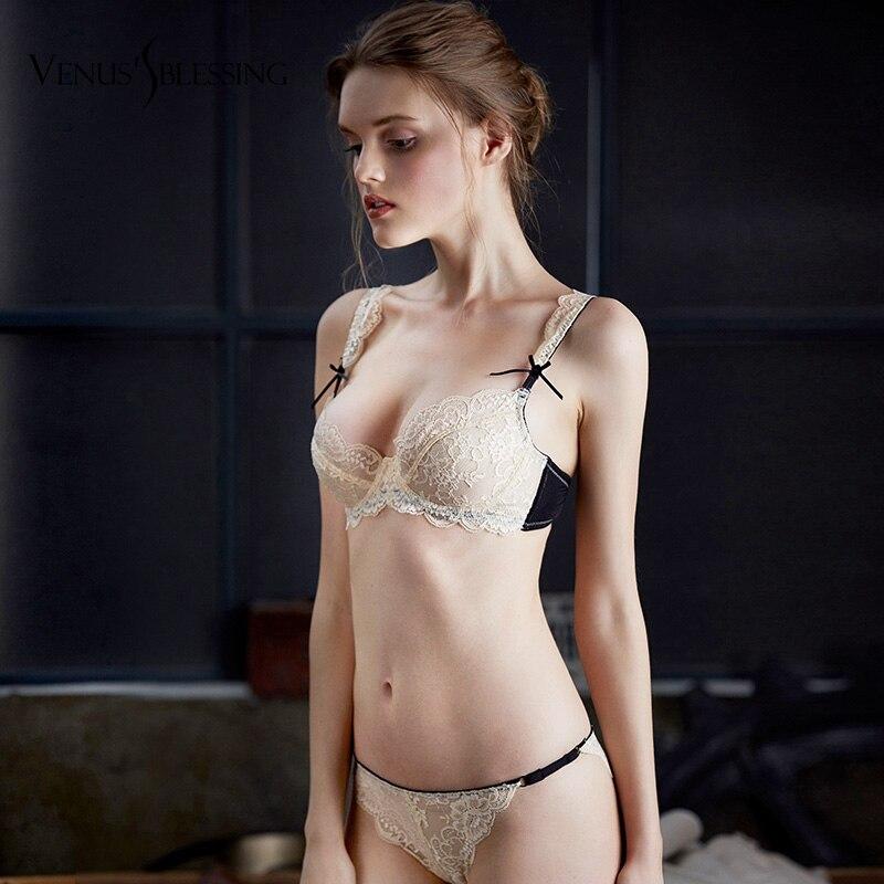 Ladies Sexy Breathable Lace Bras Perspective Transparent Bra Sexy Women Underwear Unlined Bralette Plunge Brassiere bra suit