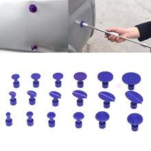 18 шт. фиолетовый автомобильный корпус безболезненный инструмент для ремонта вмятин градом пластиковый клей Puller Tabs Pad набор инструментов для ремонта автомобиля