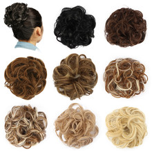 Chignon Hair Bun Hairpiece Curly Hair Scrunchie Extensions Blonde Brown Black Heat Resistant Synthetic Wig For Women Hair Pieces(China)