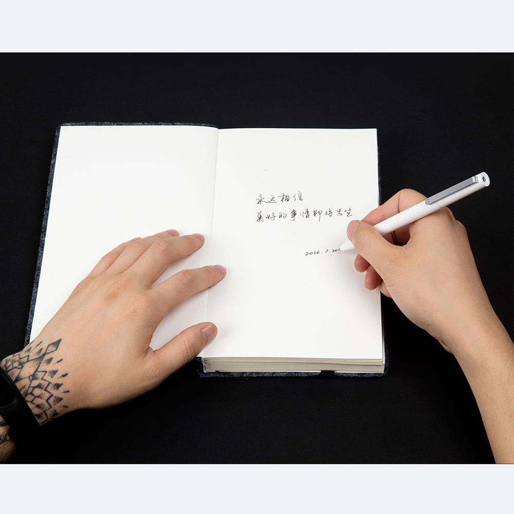 Oryginalny Xiaomi Podpisanie Pen PREMEC Mijia Znak Pióra 9.5mm Smooth Szwajcaria MiKuni Japonia Ink Refill dodać Mijia Długopis Czarny napełniania 9