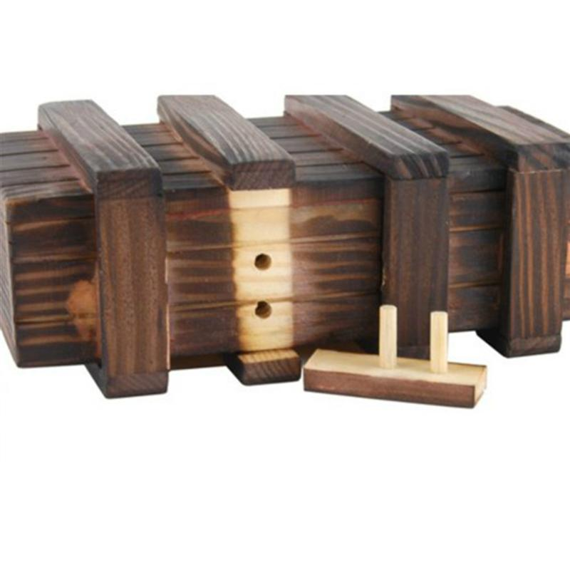 Magic Compartment Wooden Puzzle Box with Extra Secure Secret Drawer Educational Toys for Baby Kids Children Gift