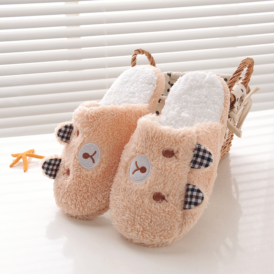 Slippers Home Shoes Women Winter Home Slippers Women Warm Plush Slippers Female Animal Ladies slippers