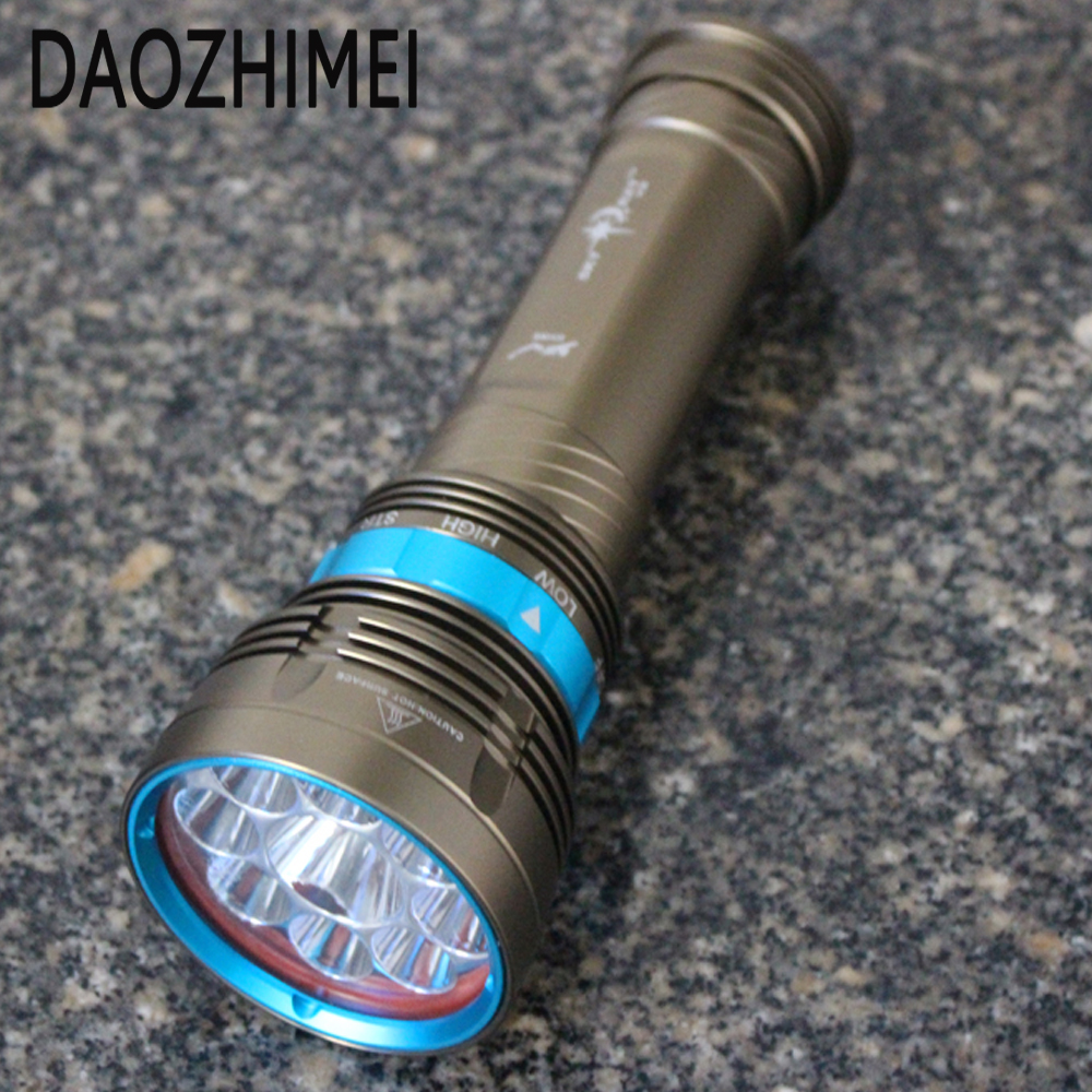 18000 Lumens 9 L2 LED Diving flashlight Waterproof lamp lamp Work underwater Torch Diving light+4 * 18650 battery / charger