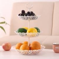 1 conjunto de 3-tier placa de frutas suporte de bolo de frutas bela decoração para casa