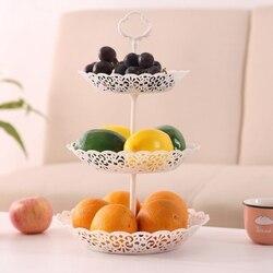 1 zestaw 3-Tier talerz na owoce stojak na ciasta owoce stojak piękna dekoracja domu