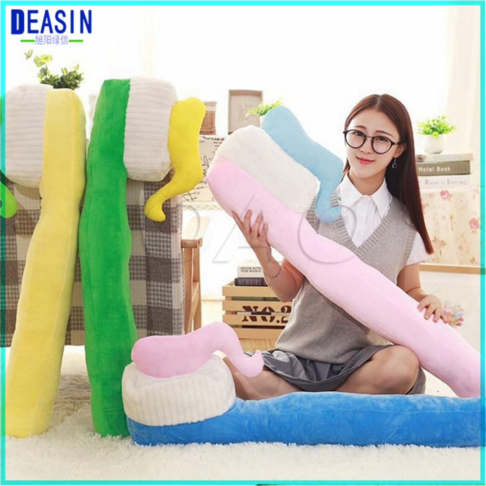 Free shipping New Toothbrush shape pillow cushion washable creative gifts Dental Clinic gift teeth type Bolster Dentist gift dentist gift resin crafts toys dental artware teeth handicraft dental clinic decoration furnishing articles creative sculpture