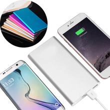 Ultra-thin 20000mAh Mini Power Bank Portable Dual USB Ports Polymer Poverbank External Battery Pack Powerbank For Smart Mobile
